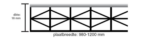 veranda polycarbonaat helder of opaal