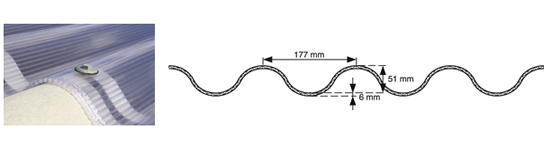 MeerwandigePolycarbonaatGolfplaten